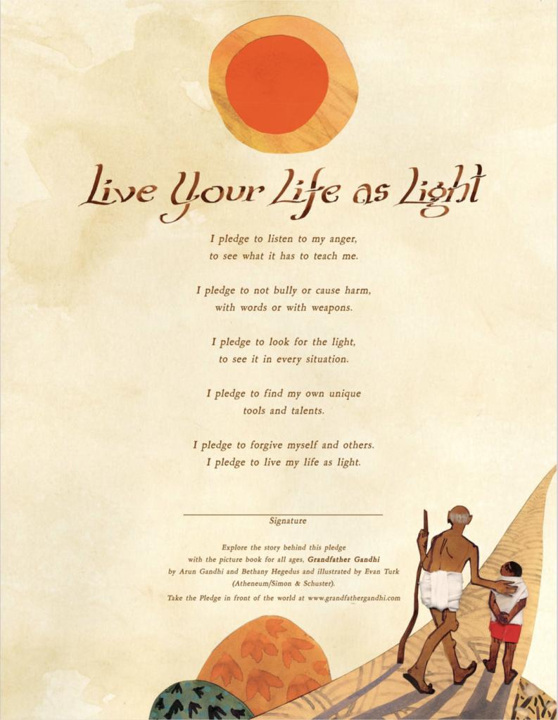 Live Your Life as Light Pledge
