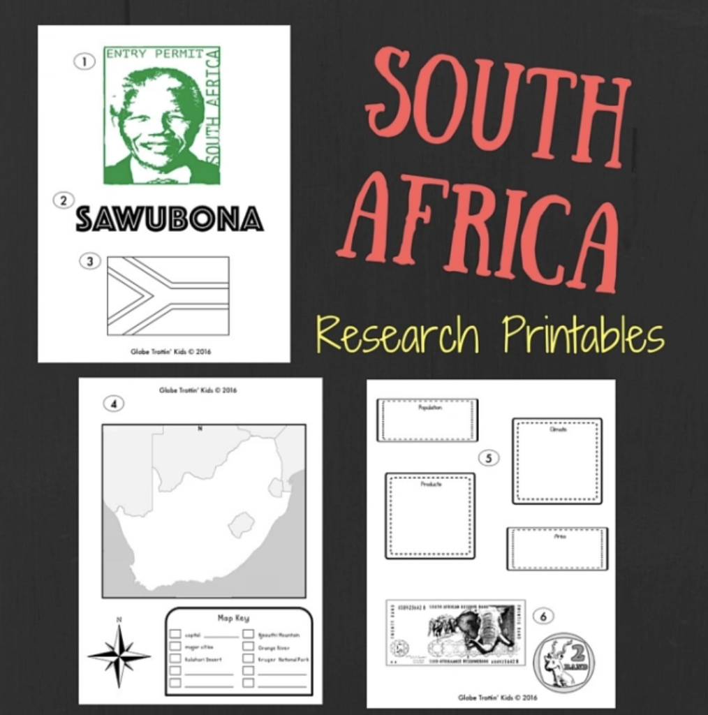 South Africa printables
