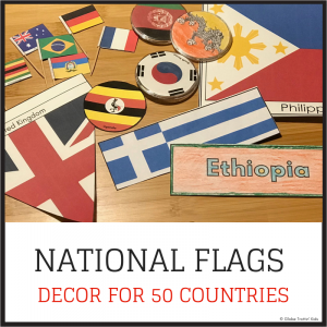 World Flags Decor
