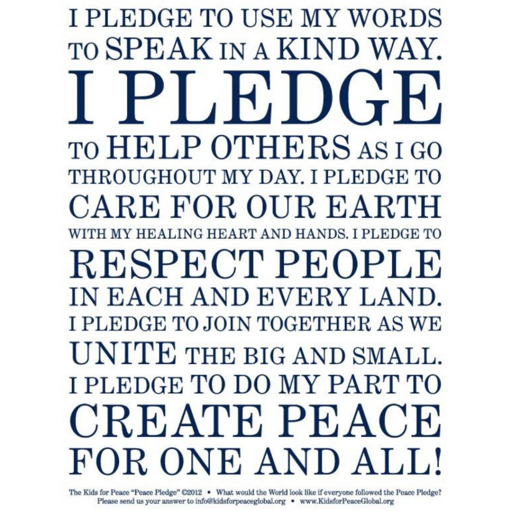 peace pledge