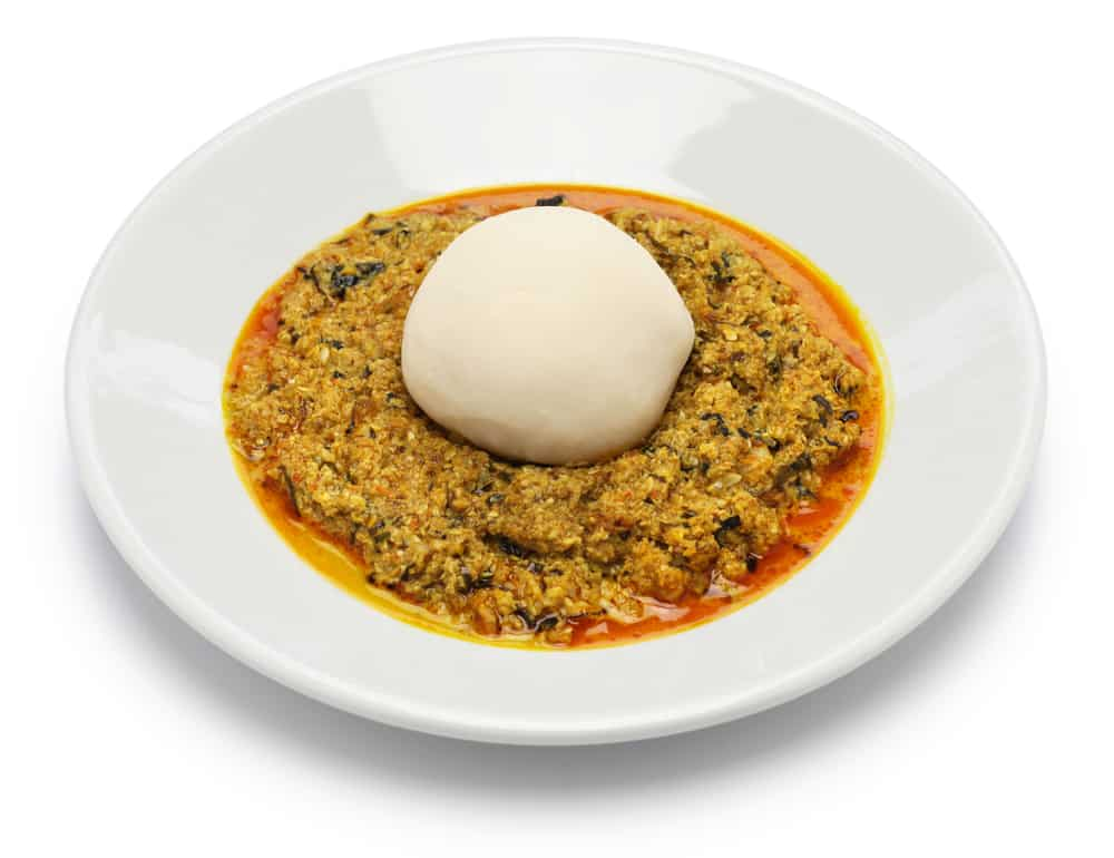 Egusi soup and fufu