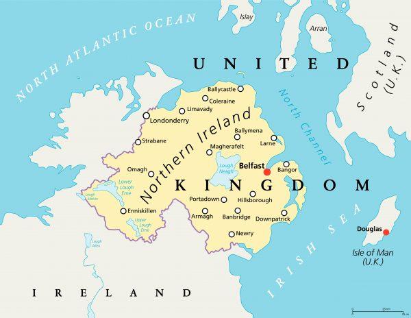 N. Ireland map