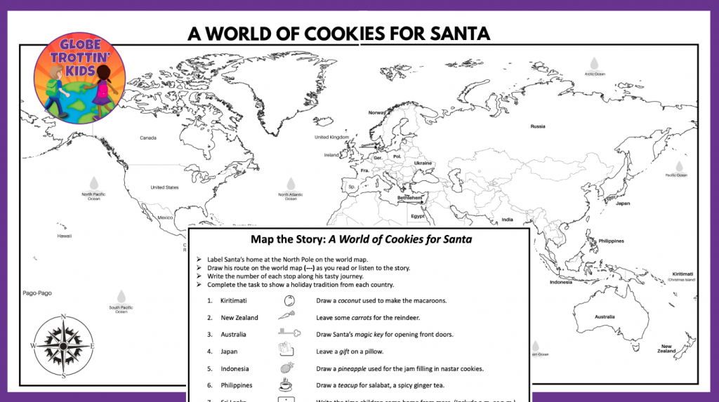 Map the Story: A World of Cookies for Santa