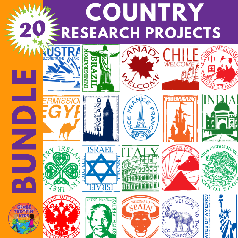 country research projects bundle