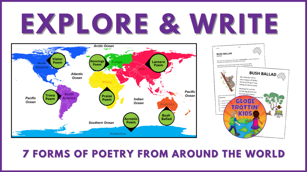explore and write 7 types of poetry from around the world