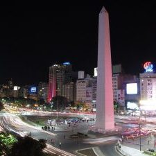 Buenos Aires city lights