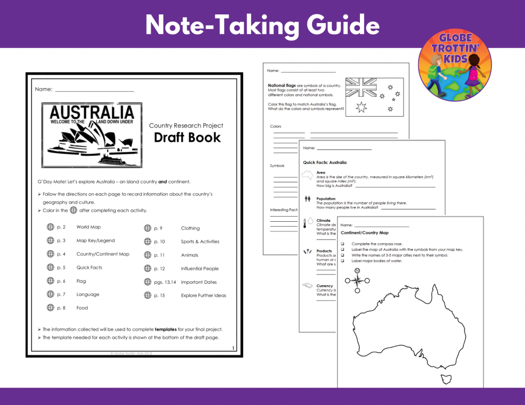 a draft book of graphic organizers for note-taking