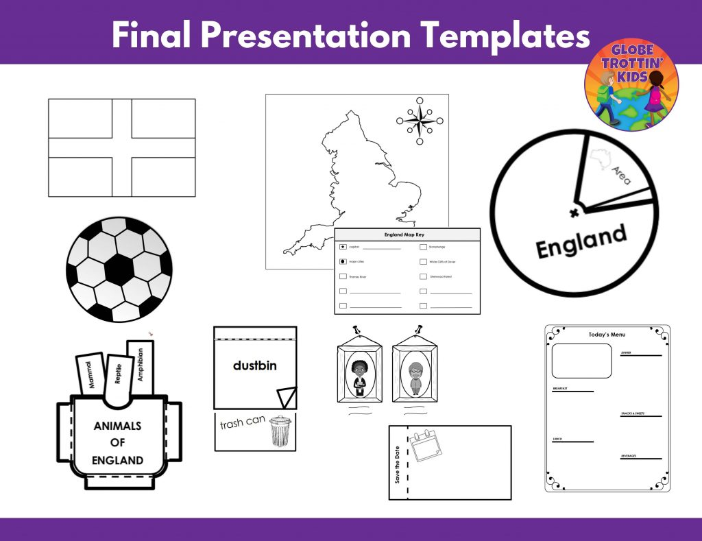 templates for England research project